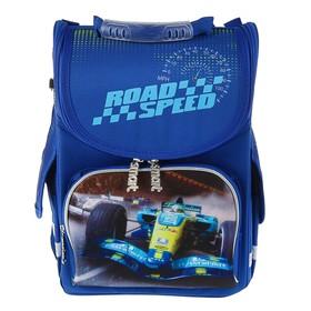 Ранец Стандарт Smart PG-11, 34 х 26 х 14 см, для мальчика, Road speed, сини