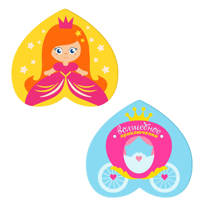 Мини-коврики для ванны «Принцесса», на присосках, набор 2 шт.