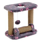 Когтеточка игровая для котят, джут 37 х 24 х 34 см, микс цветов