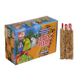 Набор палочки 'Seven Seeds' для попугаев, фрукты, коробка 36 шт, 848 г Ош