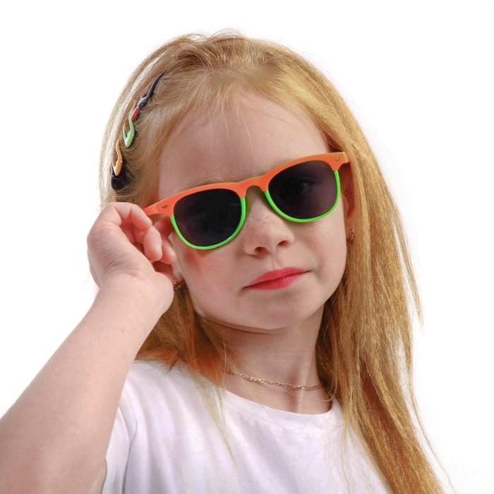 Очки солнцезащитные детские Clubmaster, Оправа двухцветная, микс,стекла темные 13.5х13х5 см