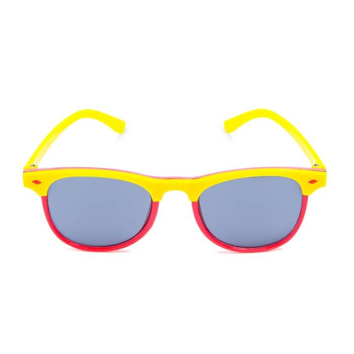 """Очки солнцезащитные детские """"Clubmaster"""", оправа двухцветная, стёкла тёмные, МИКС, 13.5 см"""