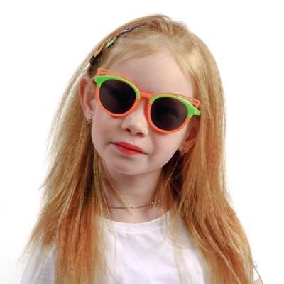 """Очки солнцезащитные детские Clubmaster, Оправа """"Бабочка"""", микс, стекла темные 13.5х13х5 см"""
