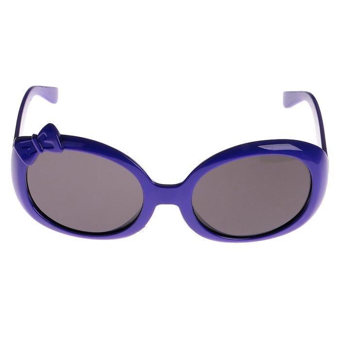 """Очки солнцезащитные детские """"Бант"""", оправа и линзы однотонные, выпуклые, МИКС, 13 × 12 × 4.5 см"""