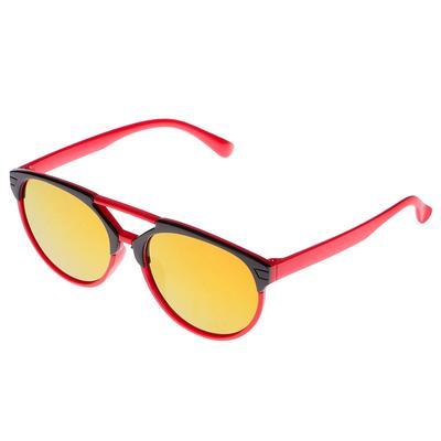 Очки солнцезащитные детские Авиаторы.Оправа двухцветная, зеркальн. стекла, микс,13х12х4.5 см