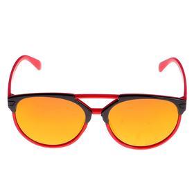 Очки солнцезащитные детские, оправа двухцветная, стёкла зеркальные, МИКС, 13 × 12 × 4.5 см Ош