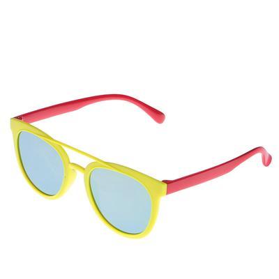 Очки солнцезащитные детские Авиаторы.Оправа и дужки двухцветные микс,зеркаль.опр13х12.5х4.5 с