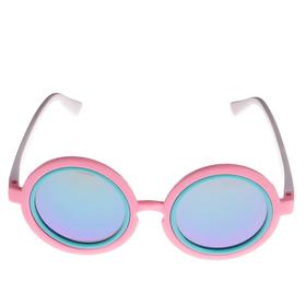 "Sunglasses kids ""Round"", round socket tricolor, MIX, 13 × 12.5 × 5 cm"