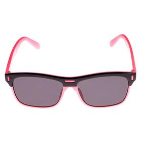 Baby sunglasses Square, frame solid, colored trim, MIX, 13 × 12 × 5 cm