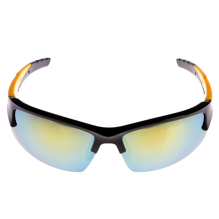 Очки спортивные, линзы градиент, оправа выпуклая, uv 400, дужки микс, 17х15х4.5 см