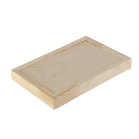 Планшет деревянный, с врезанной фанерой, 20 х 30 х 3,5 см, глубина 0.5 см, сосна