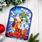 """Доска разделочная сувенирная """"С Новым годом. Дед Мороз и Снегурочка"""", 27,5х19,5см"""