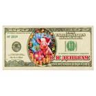 """Магнит деревянный доллар """"Я к деньгам"""" с голографией, 11,8х5,7см, Символ года 2019"""