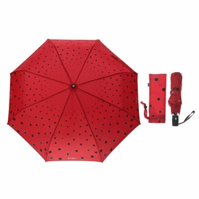 """Зонт полуавтоматический """"Кошки в городе"""", R=50см, цвет красный"""