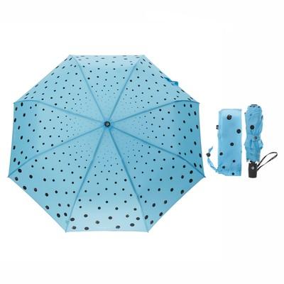 """Зонт полуавтоматический """"Кошки в городе"""", R=50см, цвет голубой"""