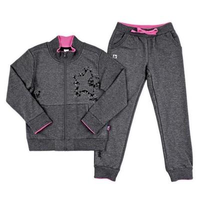 Комплект для девочки, рост 164 см, цвет тёмно-серый КБ 2376