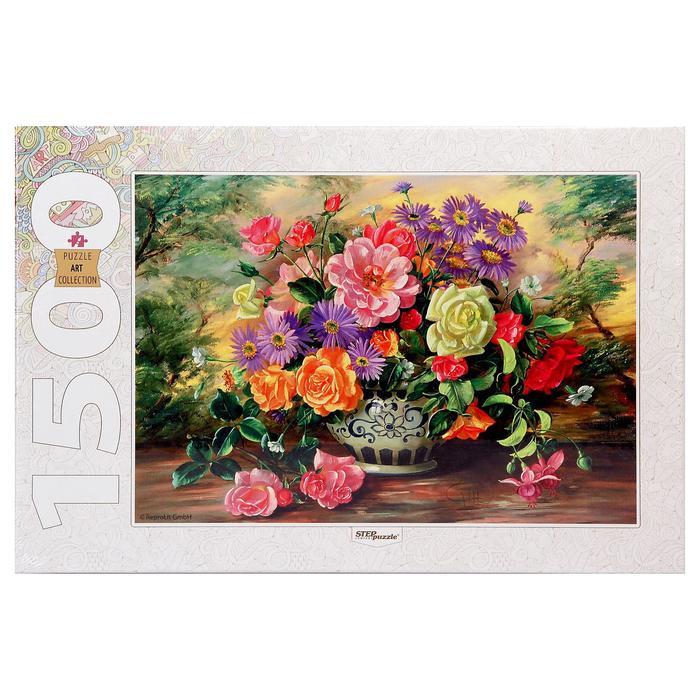"""Пазлы """"Цветы в вазе"""", 1500 элементов"""