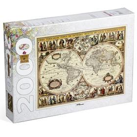 Пазлы «Историческая карта мира», 2000 элементов