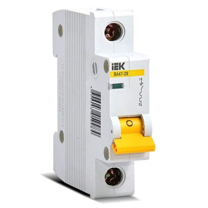 Выключатель автоматический IEK ВА47-29 , 1п, 16 А, 4.5кА, характеристика С
