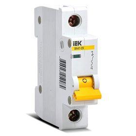 Automatic circuit breaker IEK MVA20-1-025-C, 1p, C 25 A, VA 47-29, 4.5 kA.