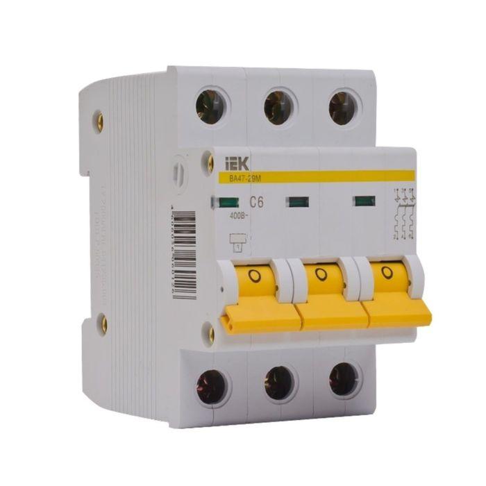 Выключатель авт. мод. IEK MVA20-3-050-C, 3п, C 50А, ВА 47-29, 4.5кА