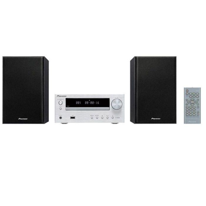 Микросистема Pioneer X-HM16-S, 30 Вт, CD, CDRW, FM, USB, серебристая/черная