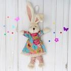 Мягкая игрушка-подвеска «Заинька», платье в цветок, в гетрах, цвета МИКС