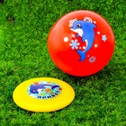 """Game kit: a Frisbee, a ball for children """"Dolphin"""", 22 cm"""