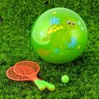 Игровой набор Ракетки, мяч детский Черепашка, 22 см, цвета МИКС
