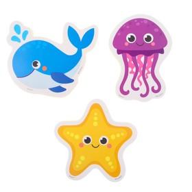 Набор игрушек для ванны «Морские жители»: наклейки из EVA, 3 шт. Ош