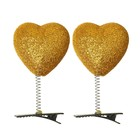 "Carnival clip ""Heart"" glitter, color gold"