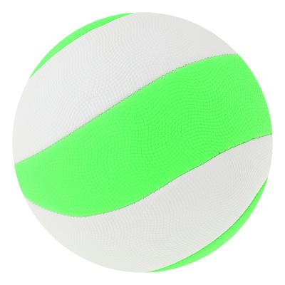 Мяч волейбольный пляжный р.5, 280 гр, цвет салатово-белый