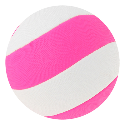 Мяч волейбольный пляжный р.5, 280 гр, цвет розово-белый