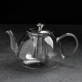 Чайник заварочный «Джеки», 1 л, с металлическим ситом