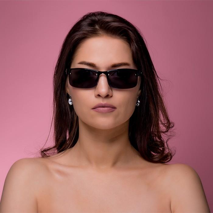 """Очки солнцезащитные """"Палома"""", линзы - накладки, на винтиках, без оправы, 14,5х14х5 см,  микс"""