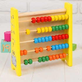 "Abacus with magnetic marker boards, ""Learn to count"" in set marker, magnetic Tangram"