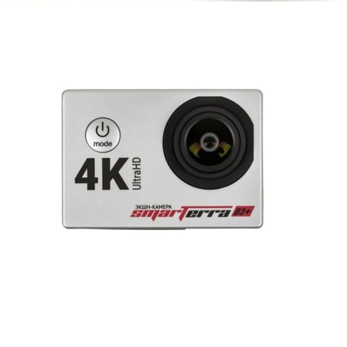 Экшн-камера Smarterra B3+, 1xCMOS, 2 Mpix, серебристая