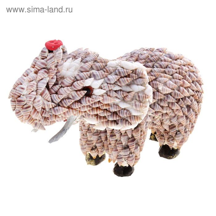 """Сувенир из ракушек """"Слон"""""""