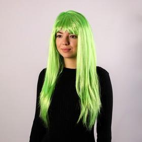 Карнавальный парик «Блеск», цвет зелёный