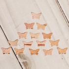 Набор заготовок для творчества «Бабочки», малый, 15 шт, 1х0,6 см, береста