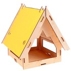 """Кормушка """"Домишко"""" желтая крыша, 20 х 21 х 22"""