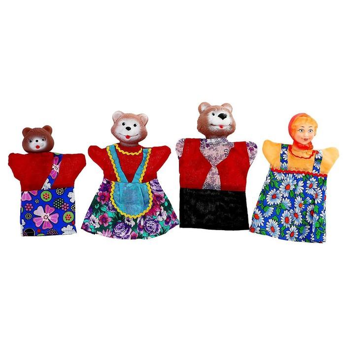 """Кукольный театр """"Три медведя"""", 4 куклы-перчатки"""
