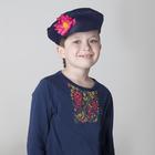 Картуз для мальчика, габардин, обхват головы 55-60 см, цвет синий