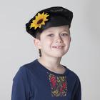 Картуз для мальчика, габардин, обхват головы 55-60 см, цвет чёрный