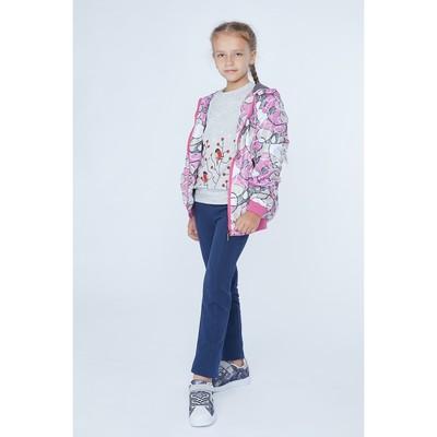 Ветровка для девочки, рост 128 см, цвет розовый
