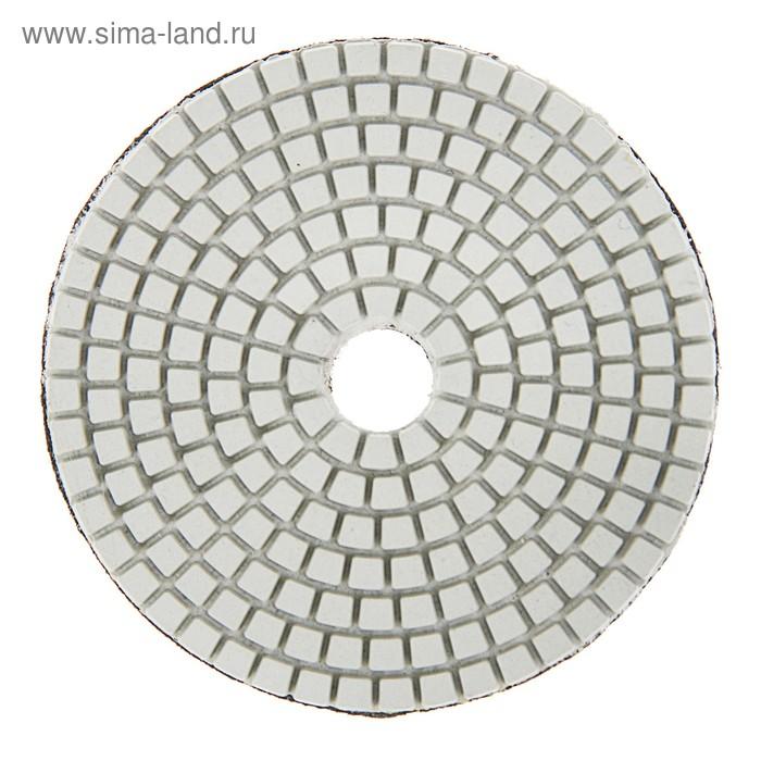 Алмазный гибкий шлифовальный круг TUNDRA premium, 100 мм, № 3000 для мокрой шлифовки