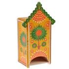Чайный домик «Солнце», с выдвижной крышкой, 13х8х22 см