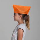 пилотка пионерская цвет оранжевый 100% п/э