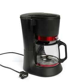 Кофеварка DELTA LUX DL-8152, капельная, 680 Вт, 1.2 л, чёрно-красная