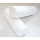 Валик анатомический Rosava L-40 см, d - 13 см, белый AloeVera Memory Foam, 75%пэ, 25 виск